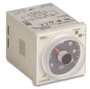 modes of operation and four selectable timing ranges. Features MS4SM Series • Multi-mode timer with mode
