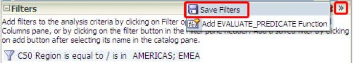 list. ) in the filters pane and select Save Filters
