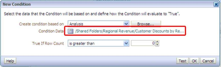 "and select the Customer Discounts by Region analysis. 12 . a. In the ""True If Row"