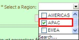 and EMEA. b. Select APAC from your dashboard prompt. c. Click Apply . The values for