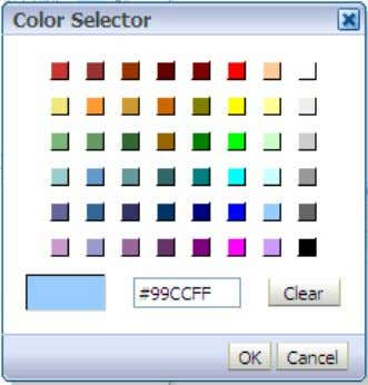 color from the Color Selector dialog box and click OK . d. Click OK in the