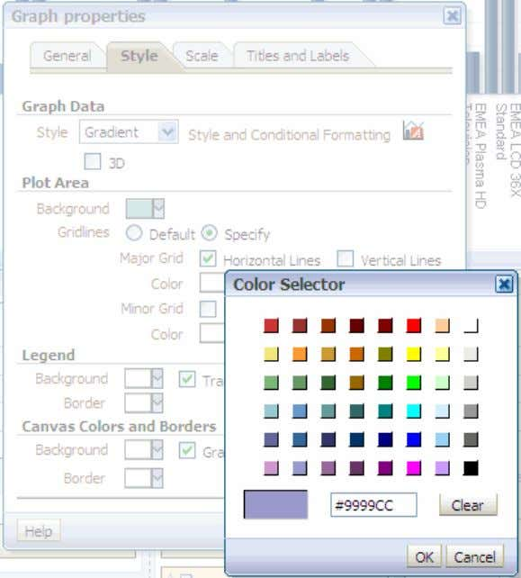 checkbox. b. Select a color of your choice and click OK .