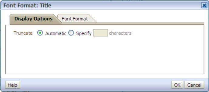 "Format: Title"" dialog box appears. You use this d. Click the Font Format tabbed page. e."