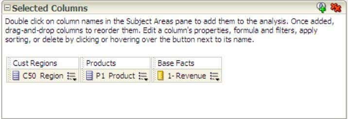 8/29/13 Creating Analyses and Dashboards b. You can reorder the columns in your analysis by clicking