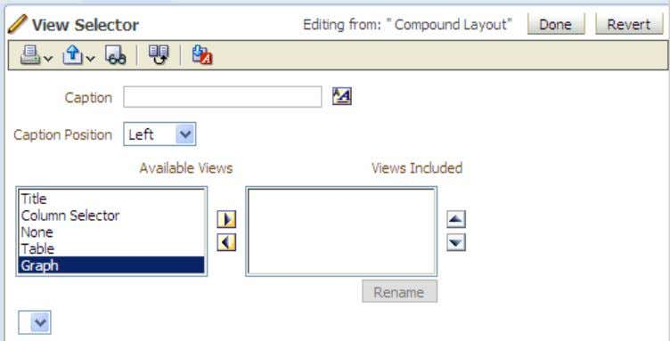 the View Selector view. The View Selector editor appears.