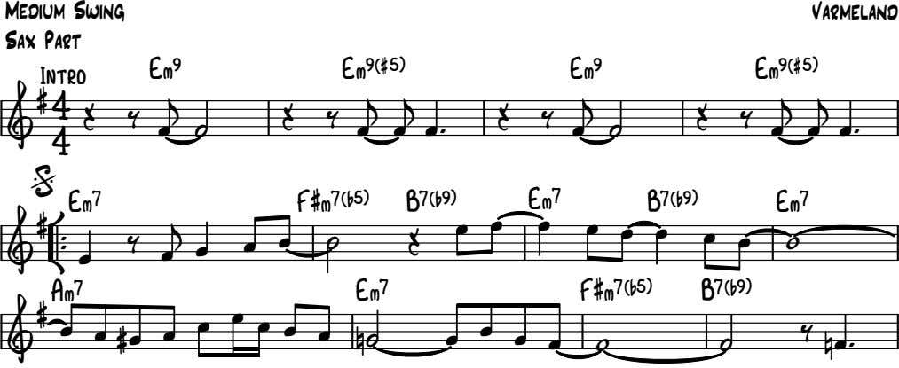 Medium Swing Varmeland Sax Part E ‹ 9 E ‹ 9 ( # 5 )