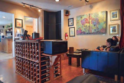 The cozy, inviting alcove off the main Page Springs Cellars tasting room. to the Al