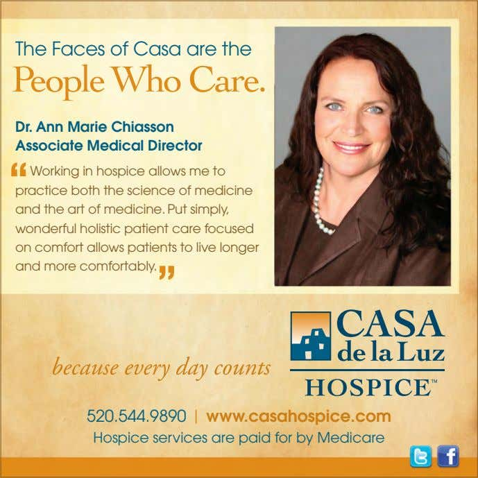 "The Faces of Casa are the Dr. Ann Marie Chiasson Associate Medical Director "" Working"
