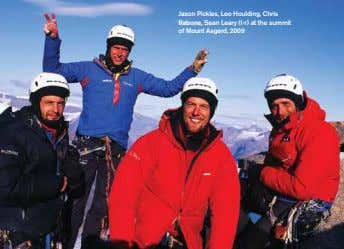 Jason Pickles, Leo Houlding, Chris Rabone, Sean Leary (l-r) at the summit of Mount Asgard,