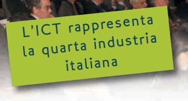 L'ICT rappresenta la quarta industria italiana