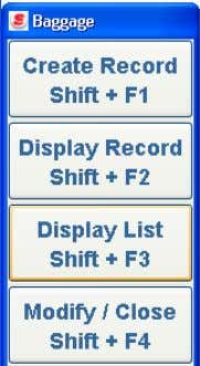 option from the Modify / Close label <Shift+F4> . The Record Options pop-up window displays Each