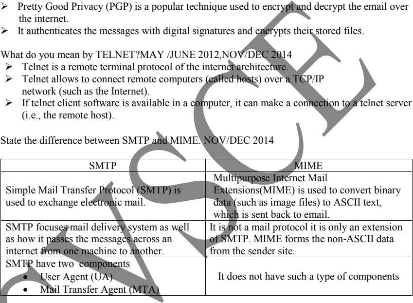  Pretty Good Privacy (PGP) is a popular technique used to encrypt and decrypt the