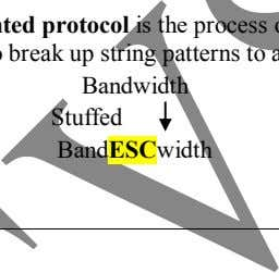 transmission of information. Bandwidth Stuffed Band ESC Department of ECE / CS 6551 – COMPUTER NETWORKS