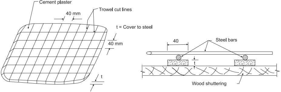 IAEE M ANUAL Fig 8.4 Use of cement brickets for cover perviousness to the leakage or