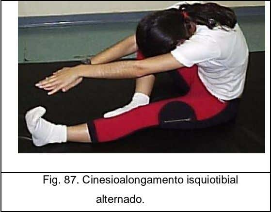 Fig. 87. Cinesioalongamento isquiotibial alternado.