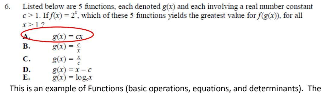 This is an example of Functions (basic operations, equations, and determinants). The