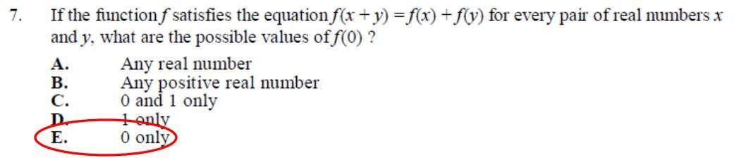 College Algebra Placement Test Sample Questions This is an example of Functions (basic operations, equations, and