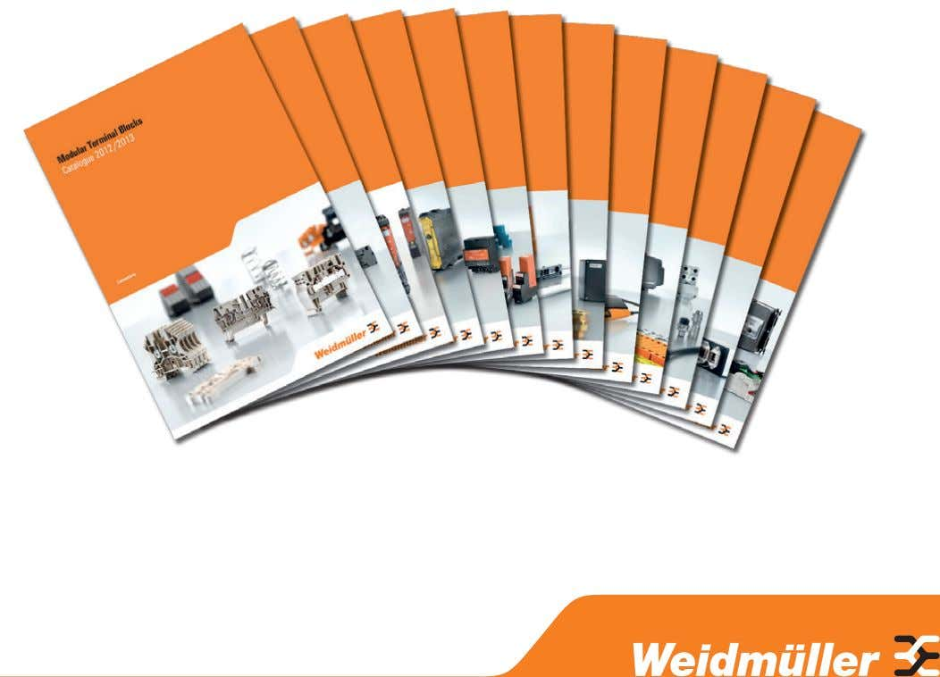 to the next desired catalogue page. Further Weidmüller product catalogues can be accessed by clicking the