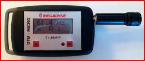 "the device the ""ON"" button has to be pushed. 1 Kit includes: • DTM-MICRO Tension Meter"