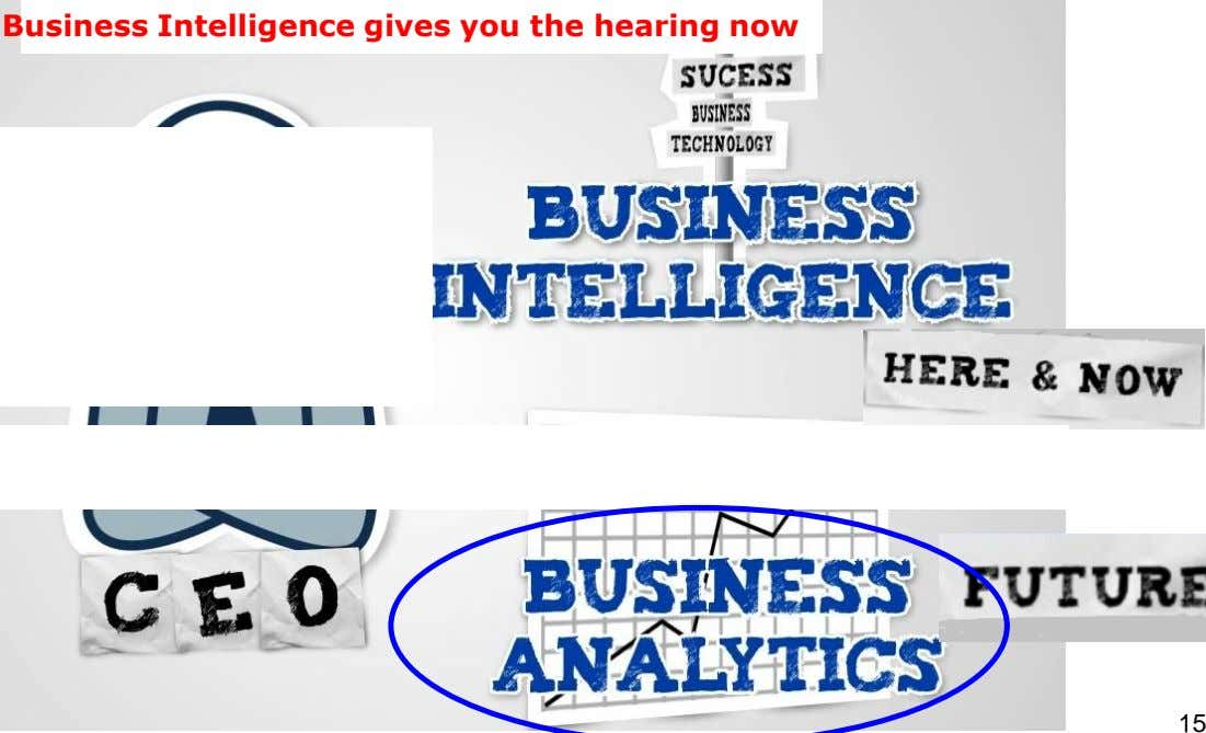 Business Intelligence gives you the hearing now 15