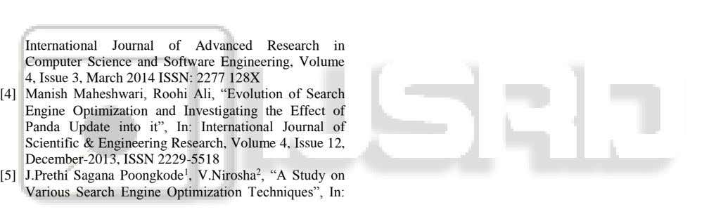 International Journal of Advanced Research in Computer Science and Software Engineering, Volume 4, Issue 3,