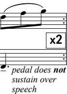      x2x2x2x2      pedal does not sustain