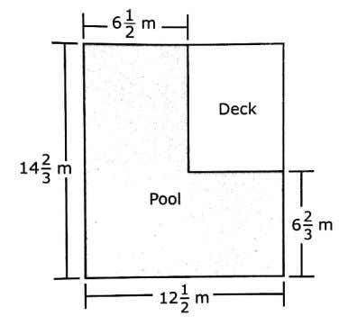 pool and deck in the shape of a rectangle, as shown. - What is the perimeter