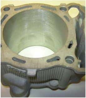 ELECTROSIL Cylinder Coating Stages Top: Typical Damaged/worn cylinder Centre : Cylinder coating removed and precision