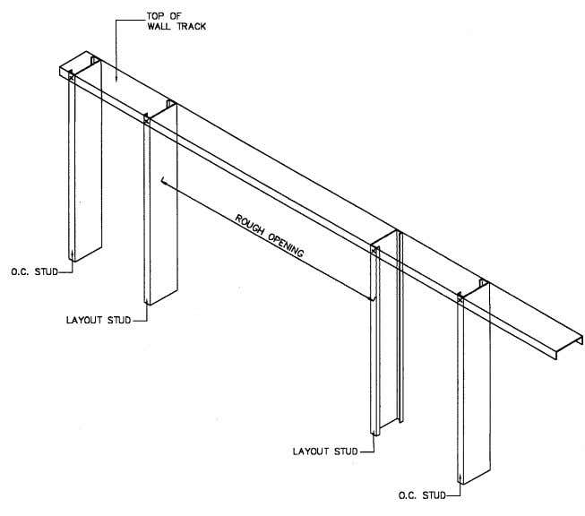 Figures 2 through 4 provide a step by step construction of a typical double L-header.