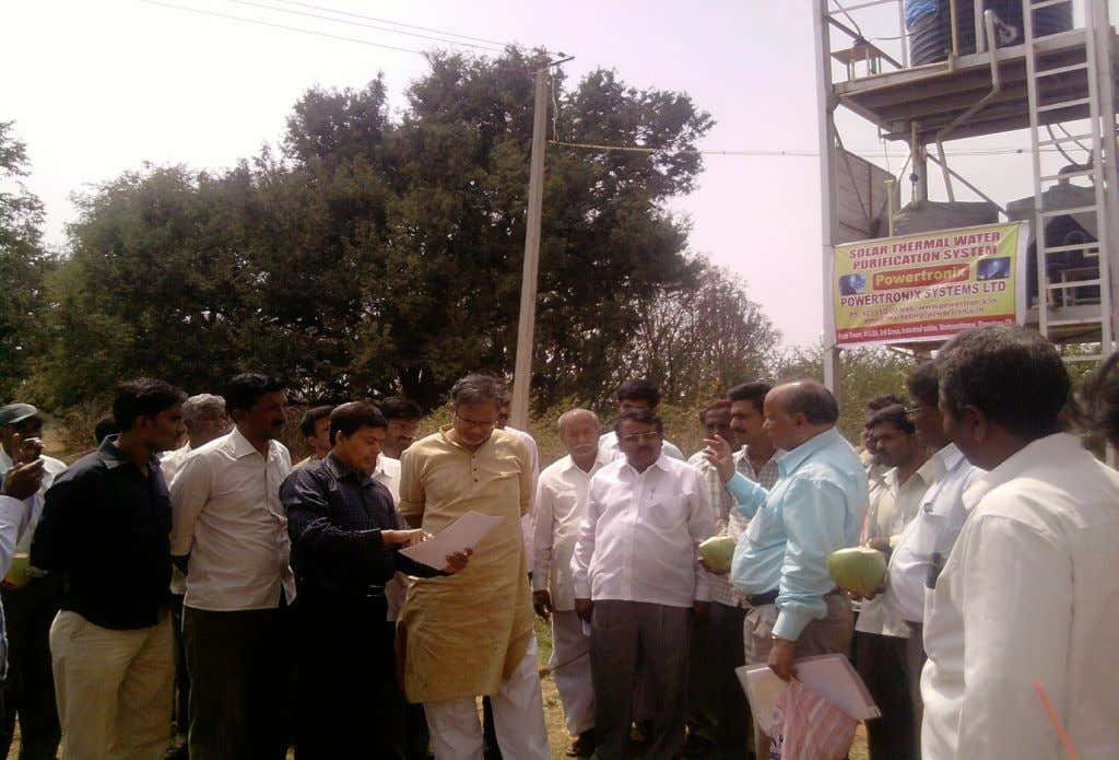 Honorable Urban development Minister Mr Sureshkumar in Plant visit
