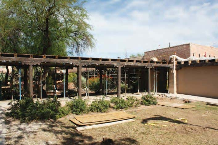 donated the property as the foundation for a community-run In the Patio Building project, the adobe