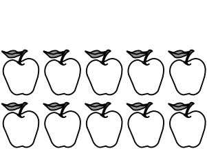 8. There are . apples than oranges. apples than oranges. same number of apples as oranges.