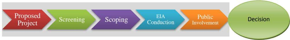 Proposed EIA Public Screening Scoping Decision Project Conduction Involvement