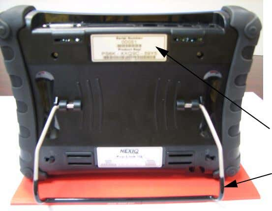 - Device Configuration Back View Figure 2.3 Back View of the Pro-Link iQ Device Serial Number