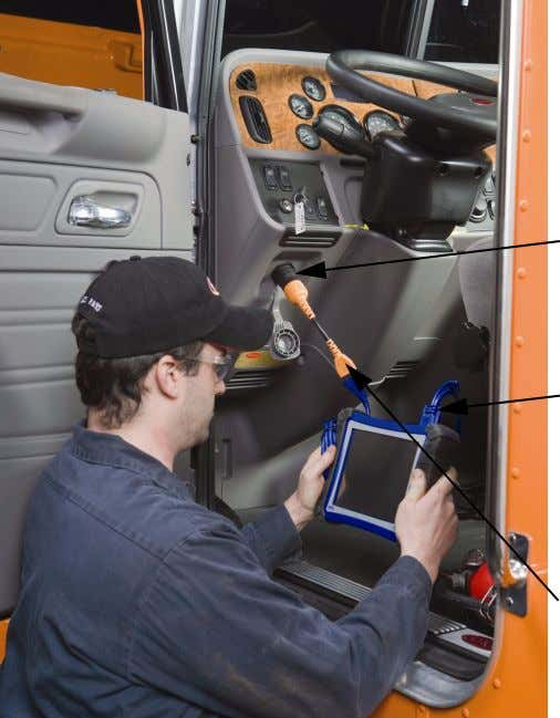 Pro-Link iQ to a vehicle diagnostic port. Typical Connection Figure 3.1 Vehicle Diagnostic Port Blue power/data