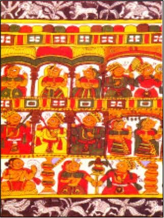 more on cloth. The colours and the style was far from and Fig. 7.5a An example