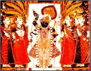 ceremony behind the image or idol was called the Pichhavai. Nathdwara in Rajasthan is the centre