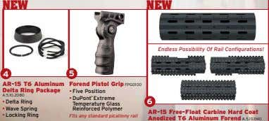 NEW NEW Endless Possibility Of Rail Configurations! 4 5 AR-15 T6 Aluminum Delta Ring Package
