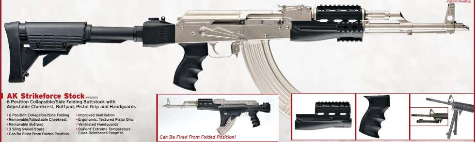 Patent Pending AK Strikeforce Stock AKA2300 6 Position Collapsible/Side Folding Buttstock with Adjustable Cheekrest,
