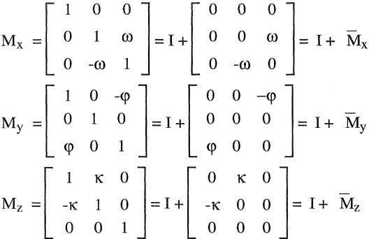 equal to unity of the three rotation matrices becomes (2-21) (2-22) (2-23) The resultant first order