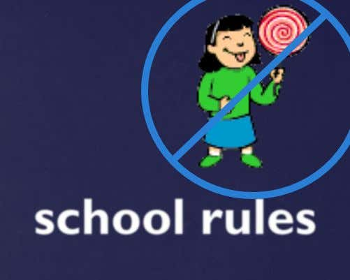 # 1 All other school rules also apply in the library. • Absolutely NO: gum, food,