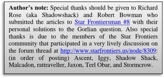 Author's note: Special thanks should be given to Richard Rose (aka Shadowshack) and Robert Bowman