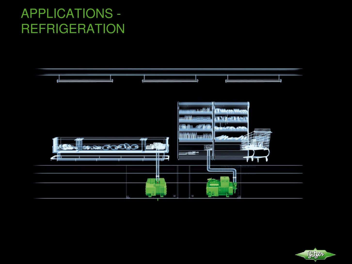 APPLICATIONS - REFRIGERATION BITZER // Application with Reciprocating and Screw Compressors operated on R407F