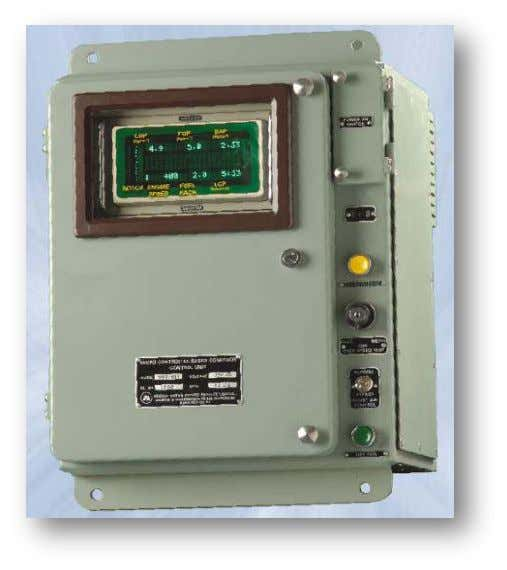 Control unit features • 16 bit microcontroller based design • No need of regular maintenance. •