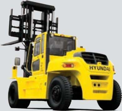 (2,730 mm) Various attachments Fork positioner Side shift Contact your Hyundai dealer for more information. The