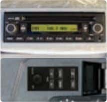 all blind spots are eliminated. Concentrated switch panel MP3 / CD Player with remote control Hands
