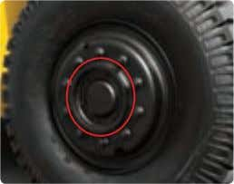 Enclosed brakes are protected against dust and water. Protector for hub bolts By applying protector for