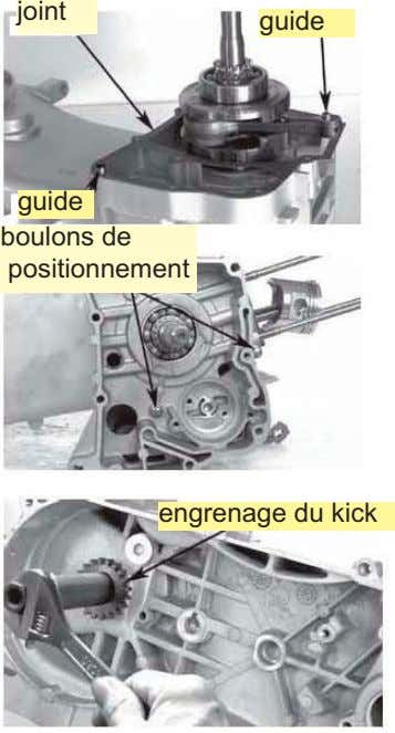 joint guide guide boulons de positionnement engrenage du kick