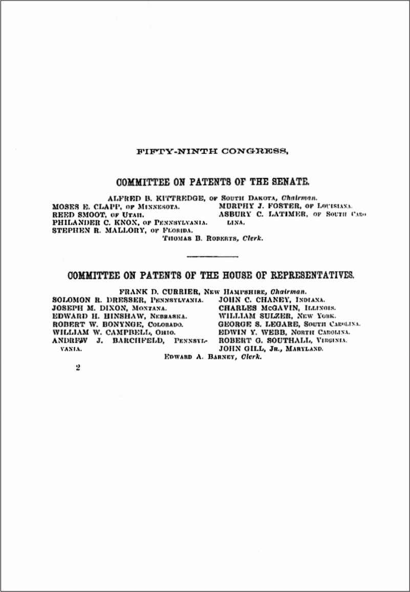 Langhorne Clemens before the Congressional Joint Committee on Patents, December, 1906 (continued) (Continued on page 194)