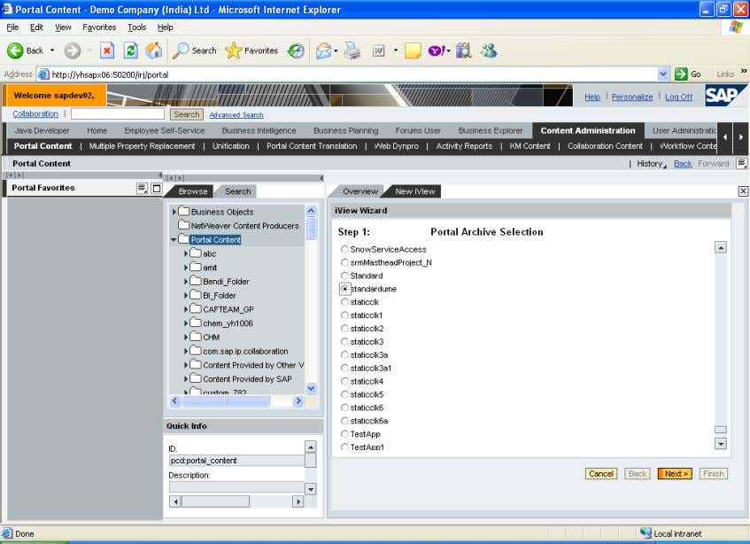 archive next give iview details and click finish. SAP COMMUNITY NETWORK SDN - sdn.sap.com | BPX